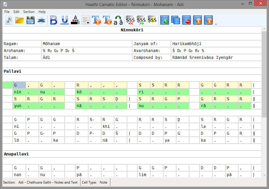 Carnatic Editor | Haathi Software